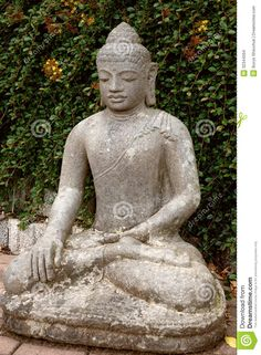 Stone Buddha In The Lotus Position. Stock Images - Image: 32344594