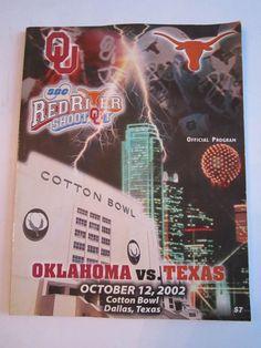 2002 OKLAHOMA VS TEXAS - COTTON BOWL - OFFICIAL FOOTBALL GAME PROGRAM - TUB FP