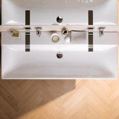 Keramag Xeno² Waschtisch B: 120 T: 48 cm weiß mit KeraTect, ohne Hahnloch, ohne Überlauf