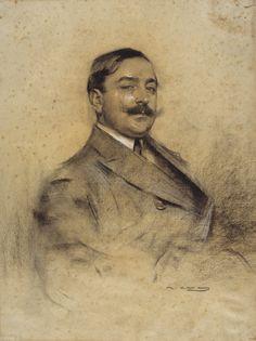 Ramón Casas i Carbó | Portrait of Manuel Bueno