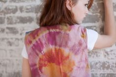 Immaculate Heart: A Hand-Dyed Silk Vest by LittleRenCreations