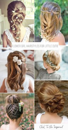 39 Cute Flower Girl Hairstyles ❤️ What kind of hairstyle do you plan for the beautiful flower girl having? We have a wonderful list of hairstyles for all wedding themes right here. hairstyles for kids 39 Cute Flower Girl Hairstyles Update) Flower Girl Updo, Flower Girl Hairstyles, Little Girl Hairstyles, Diy Hairstyles, Bridal Hairstyles, Indian Hairstyles, Little Girl Updo, Woman Hairstyles, Elegant Hairstyles