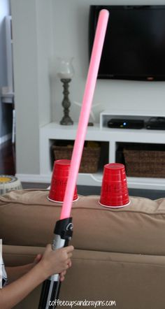 Practice Sight Words with Light Sabers!  A fun activity to get kids excited about reading.
