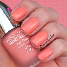 PUPA Dot Shock Lasting Color Velvet Matt Nail Polish, 001 Sugar Peach
