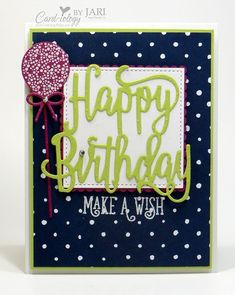 Image result for happy birthday thinlit stampin up
