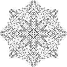 kleurplaat mandala knopjes in bloei lente (geprint)