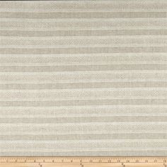 Alpine Linen Slim Stripe Natural from @fabricdotcom  This linen-look cotton fabric is perfect for draperies, duvets, pillows and slipcovers.