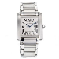 Cartier Tank Francaise W51002Q3 Automatic Stainless Steel Wrist Watch for Men #Cartier #LuxuryDressStyles