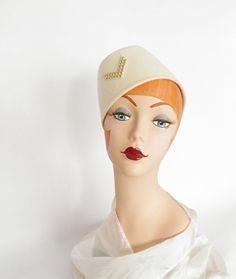 a7e4451137d Vintage 1960s tilt hat Frank Olive bugle boy by TheVintageHatShop