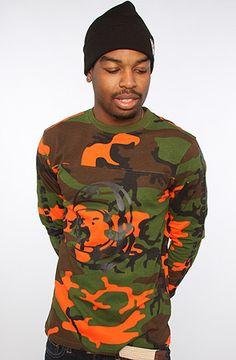 Billionaire Boys Club The Bigmouth Shirt in Safety Orange Camo : Karmaloop.com - Global Concrete Culture