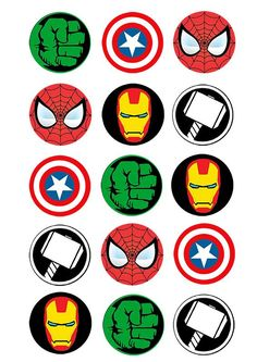 Cupcake and Cookie Wafer Toppers- Marvel Characters - somethingforcake