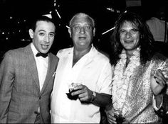 Premiere Party for Pee Wee's Big Adventure - Pee Wee, Rodney Dangerfield & David Lee Roth Pee Wee Herman, David Lee Roth, Paul Reubens, Josh Homme, Odd Couples, Photo Vintage, Jerry Lewis, Van Halen, Keith Richards