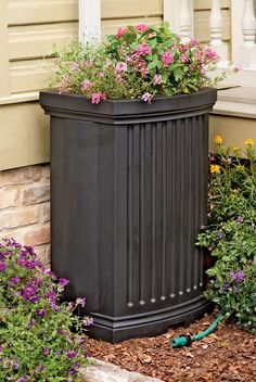 Decorative Rain Barrels with Planter | Gardener's Supply