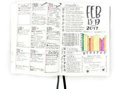 Filled in journal Spread