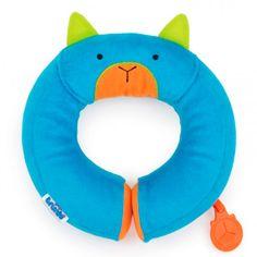 Yondi Medium Panda Trunki Kid/'s Travel Neck Pillow with Magnetic Child/'s Chin Support Black