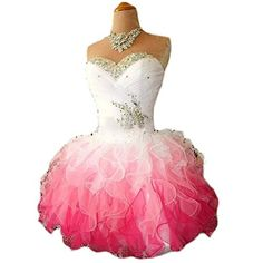 MissProm Fashion Ombre Short Sweetheart Women's Party Prom Dresses - Price:$145.00 Now On Sale:$55.00 - $70.00