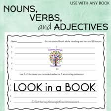 NOUNS, VERBS, and ADJECTIVES by Fluttering Through the Common Core K - 3