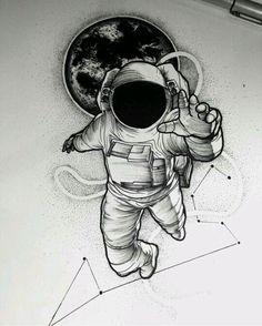 Znalezione obrazy dla zapytania astronaut art