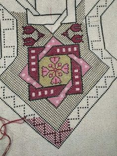 Folk Embroidery, Cross Stitch Embroidery, Blackwork, Palestinian Embroidery, Needlework, Bohemian Rug, Flora, Kids Rugs, Diy Crafts