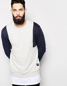 Only & Sons Colour Block Sweatshirt