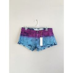 NWT Frankie B purple Aqua tye dye festival shorts (❁´◡`❁) ωḙℓḉ✺Պḙ (❁´◡`❁)   Description: ***Better photos coming soon!***  Perfect for all those 2016 Summer festivals!  •frayed hems •Zipper fly closure on front •Bright purple/Aqua blue tye dye  fabric   ❤️   Brand: Frankie B   Size: 27  Condition:  New With Tag.  (please refer to all photos Don't hesitate to ask ANY and ALL question before Bidding/Buying) Frankie B. Shorts