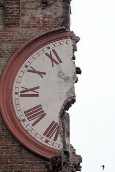 I danni del terremoto a Finale Emilia.
