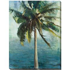 """Coconut Tree and Water Limited Edition 48"""" High Wall Art (790 BRL) ❤ liked on Polyvore"""