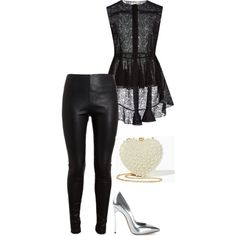 Untitled #207 by andreopoulouefi on Polyvore featuring Giambattista Valli, Balenciaga and Casadei