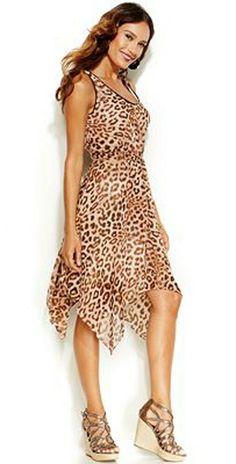 Thalia Sodi Women's Leopard Print Handkerchief Hem Sleeveless Dress (Brown, 18) #ThaliaSodi #FitFlare #AnyOccasionCasualPartyCocktailWorkwear Lace Sheath Dress, Plaid Dress, Thalia, Christmas Sale, Brown, Passion, Color, Dresses, Ebay