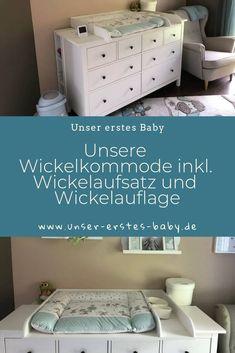 Wickelaufsatz und Wickelauflage Our Hemnes changing table with changing top and changing mat Ikea Hack Bedroom, Ikea Kura Hack, Ikea Kura Bed, Ikea Hacks, Ikea Kids, New Baby Checklist, Changing Mat, Baby Room Decor, Kid Beds