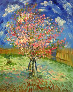 Peach (spring) van Gogh