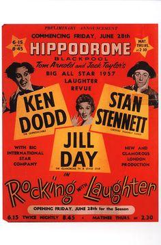 Vintage Theatre Poster - Hippodrome - Blackpool - Lancashire - England - 1957