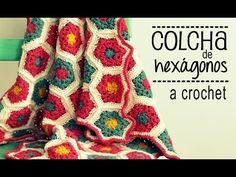 ▶ Colcha de Hexágonos a Crochet - PASO A PASO - Parte 1 de 2 - YouTube