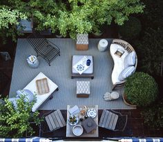 birds eye view of a perfect little terrace