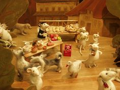 Amazing animals and scenes made with needle felting, knitting and other techniques!  Whimsy!