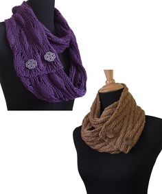 Ravelry: Un-Button Scarves pattern by Pamela Young Loom Knitting Scarf, Knitting Daily, Knit Cowl, Crochet Scarves, Crochet Yarn, Free Knitting, Knitting Patterns, Cowl Patterns, Knitting Ideas