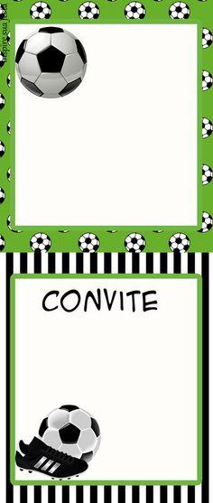Set de Fútbol: Imprimibles para Fiestas, Invitaciones y Cajas para Imprimir Gratis.   Ideas y material gratis para fiestas y celebraciones Oh My Fiesta!