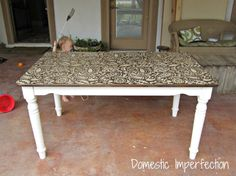 {Awesome} Paisley Stenciled Table — Domestic Imperfection.... Been dying to do something to our dining room table.... Doing this for sure!!!