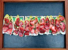 Florida strawberry celebrated food blogger and recipe writer extraordinaire, Shannon Kohn shares her recipe for Gluten-free Florida Strawberry Shrimp #Ceviche Endive Bites.