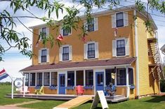 The old Orient Hotel in Victoria-By-The-Sea, Prince Edward Island, Canada. Cutest Bed and Breakfast! Victoria Prince, Seaside Village, Hotel Bed, Prince Edward Island, Bed And Breakfast, My House, Old Things, Cottage, Vacation