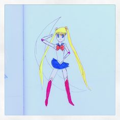 SailorMoon-Color pencils and paper (9yrs. old)