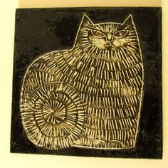 Sweden - Ceramics and Pottery Arts and Resources Ceramic Tile Art, Ceramic Artists, Slab Ceramics, Fun Illustration, Illustrations, Clay Cats, Cat Allergies, Ceramic Animals, Tapestry Weaving