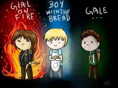 This made me laugh. I like how Katniss and Peeta each have something about them and thens theres Gale.:)