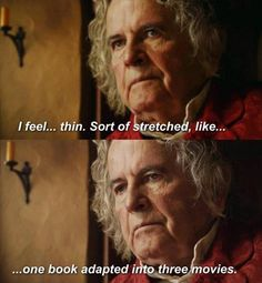 Let me just say that I think Peter Jackson has done a great job with Middle Earth in general, but this was too funny not to repin. :)