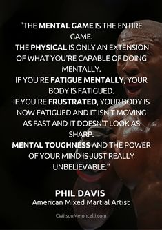 """The mental game is the entire game. The physical is only an extension of what you're capable of doing mentally. New Quotes, Quotes To Live By, Funny Quotes, Life Quotes, Fitness Quotes, Fitness Motivation, Motivation Quotes, Quotes About Strength And Love, Mental Strength Quotes"