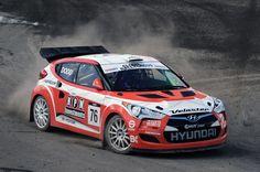 Hyundai Veloster rallycross car #rally_cars