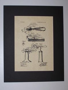 Taylor Combination Tool 1906 Kitchen Gadget Patent Drawing Can Opener