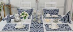 Diese Tischdeckoration und Kissen passen perfekt zum Tee. Das rustikale Design unserer Friesland-Kollektion.