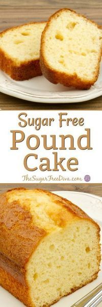 A favorite cake recipe for many. Pound cake only this dessert is sugar free and tastes yummy too! A favorite cake recipe for many. Pound cake only this dessert is sugar free and tastes yummy too! Sugar Free Deserts, Sugar Free Sweets, Sugar Free Recipes, Sugar Free Cakes, Sugar Free Frosting, Diabetic Friendly Desserts, Diabetic Snacks, Diabetic Recipes, Pre Diabetic