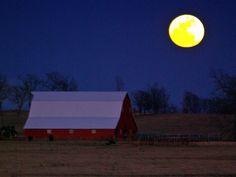 Moon over the Insco barn